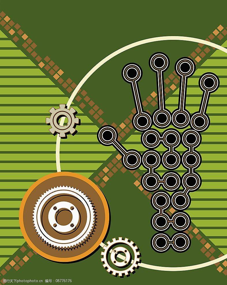 工业矢量背景图片