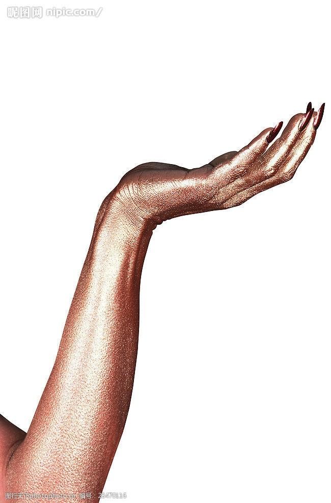 抬手金属手势造型