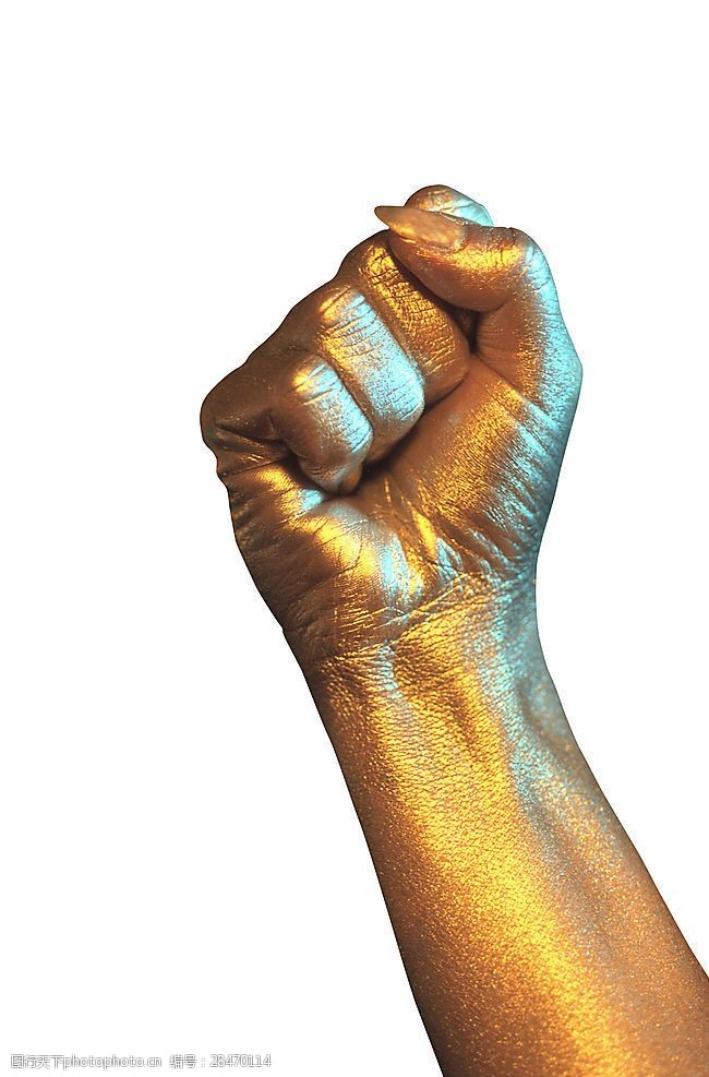 金属握拳手造型