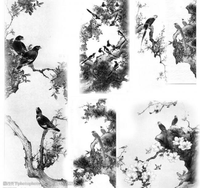 花鸟笔刷图片
